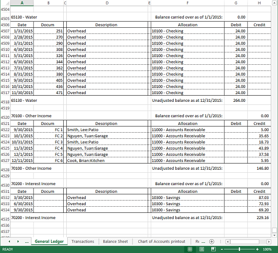 accounting ledger excel