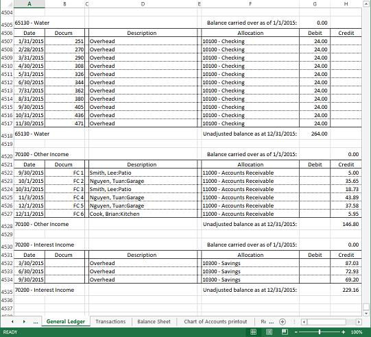 Excel Fsm Gl Drill Down Beta Financial Statement Masters